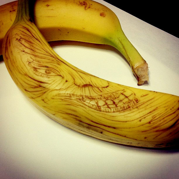 バナナに楊枝