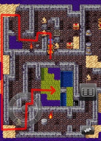 ムーンブルク城の秘密の地下室に行く道