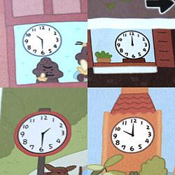 時間がわかる仕掛け