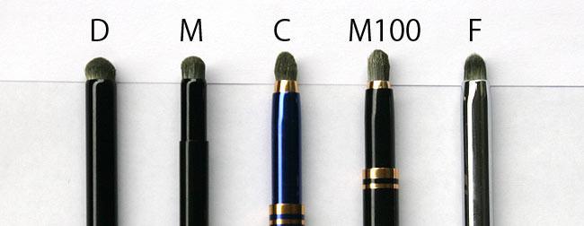 筆先の比較