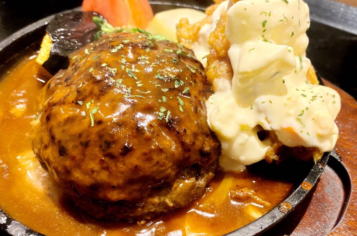 チーズinハンバーグ+チキン南蛮