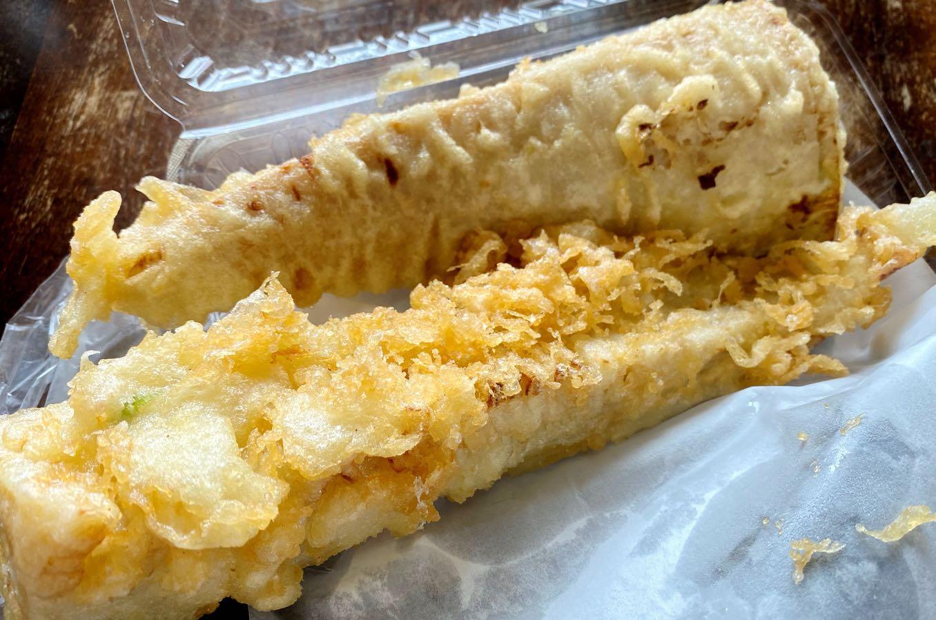 タケノコの天ぷらが大きすぎる!