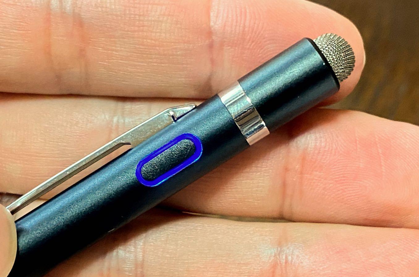 ペンにスイッチがあって電気を起こす
