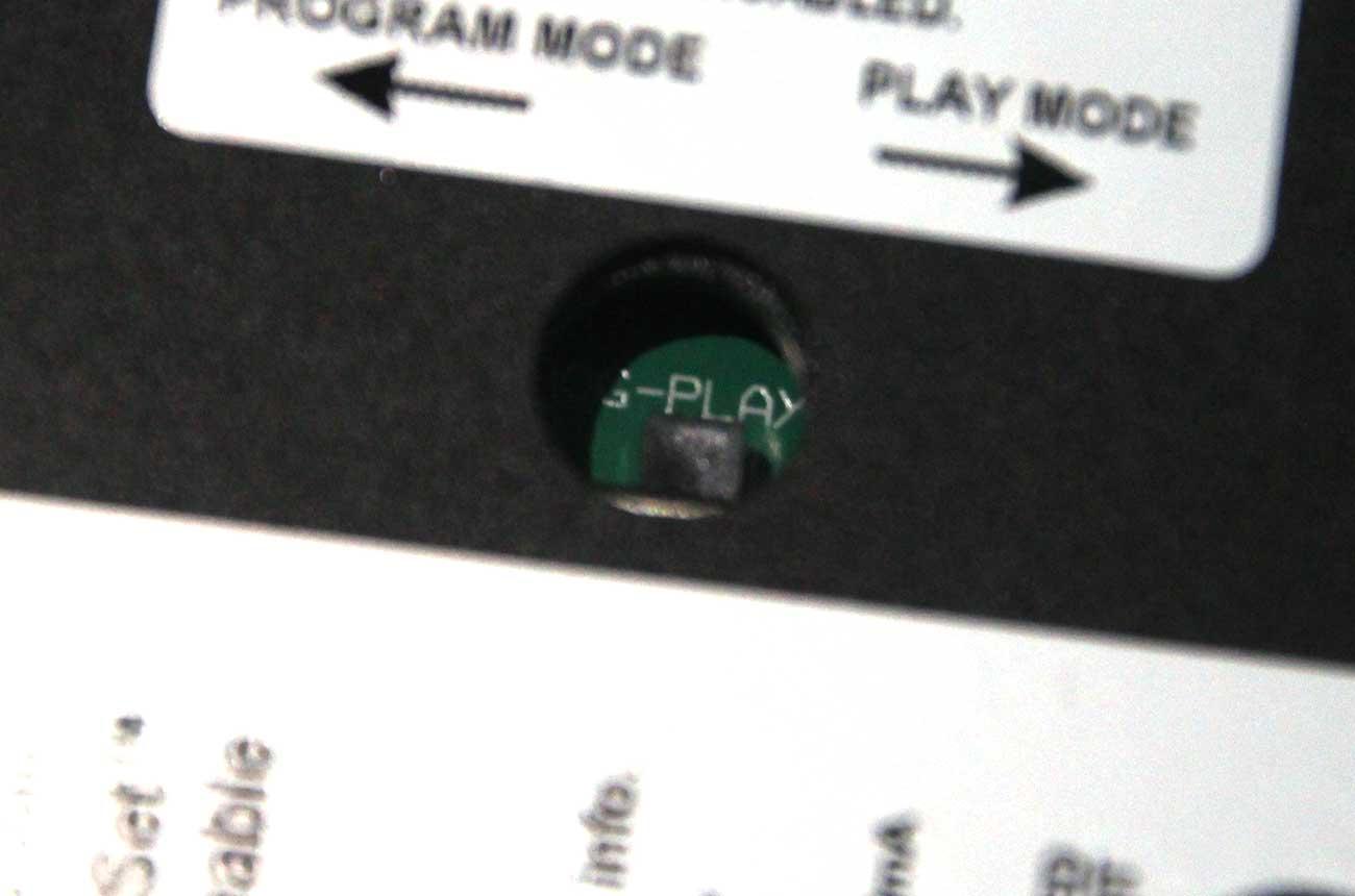 「プログラムモード」と「プレイモード」のスイッチ