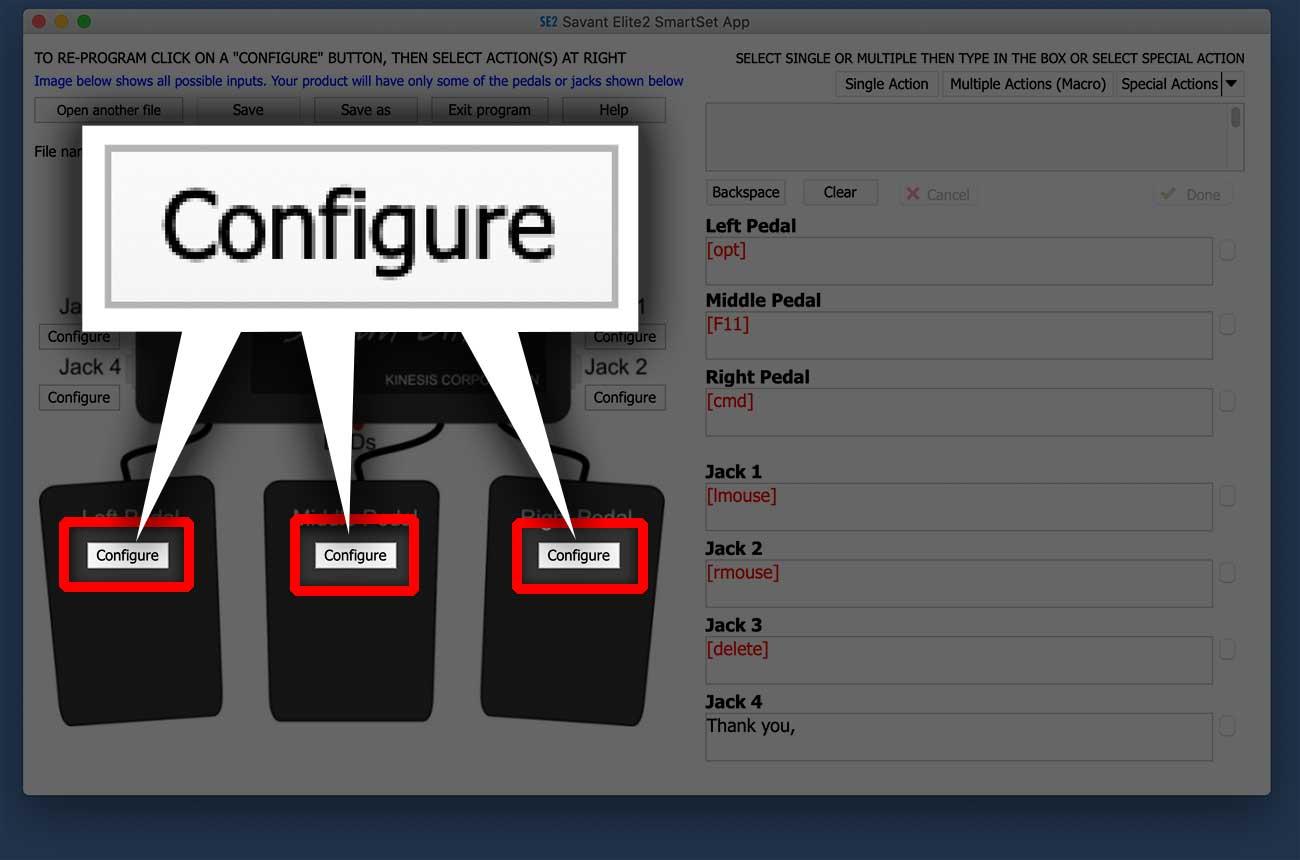 「Configure」のボタンを押す