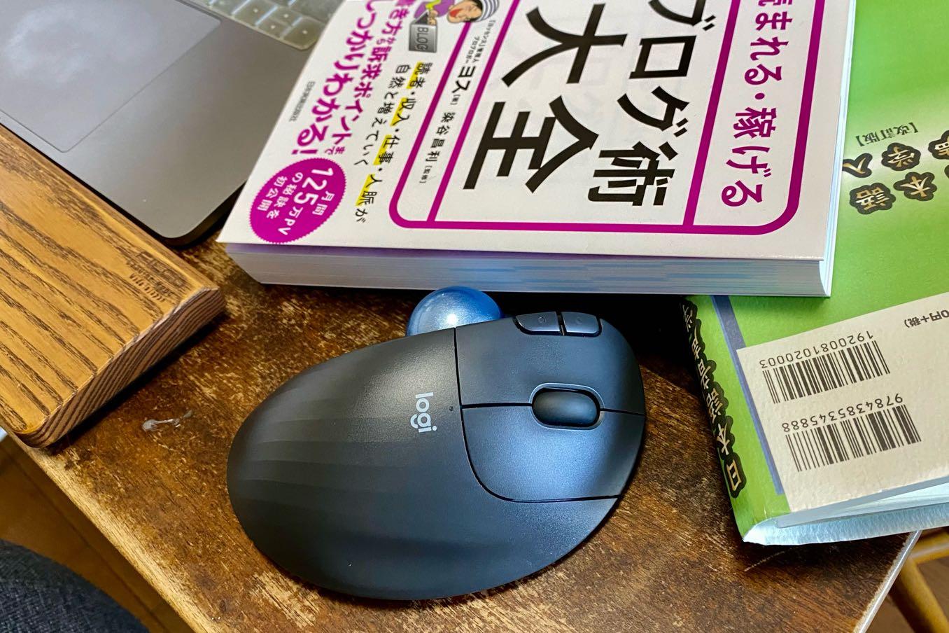 机の上に必要なスペースはマウスの大きさのみ