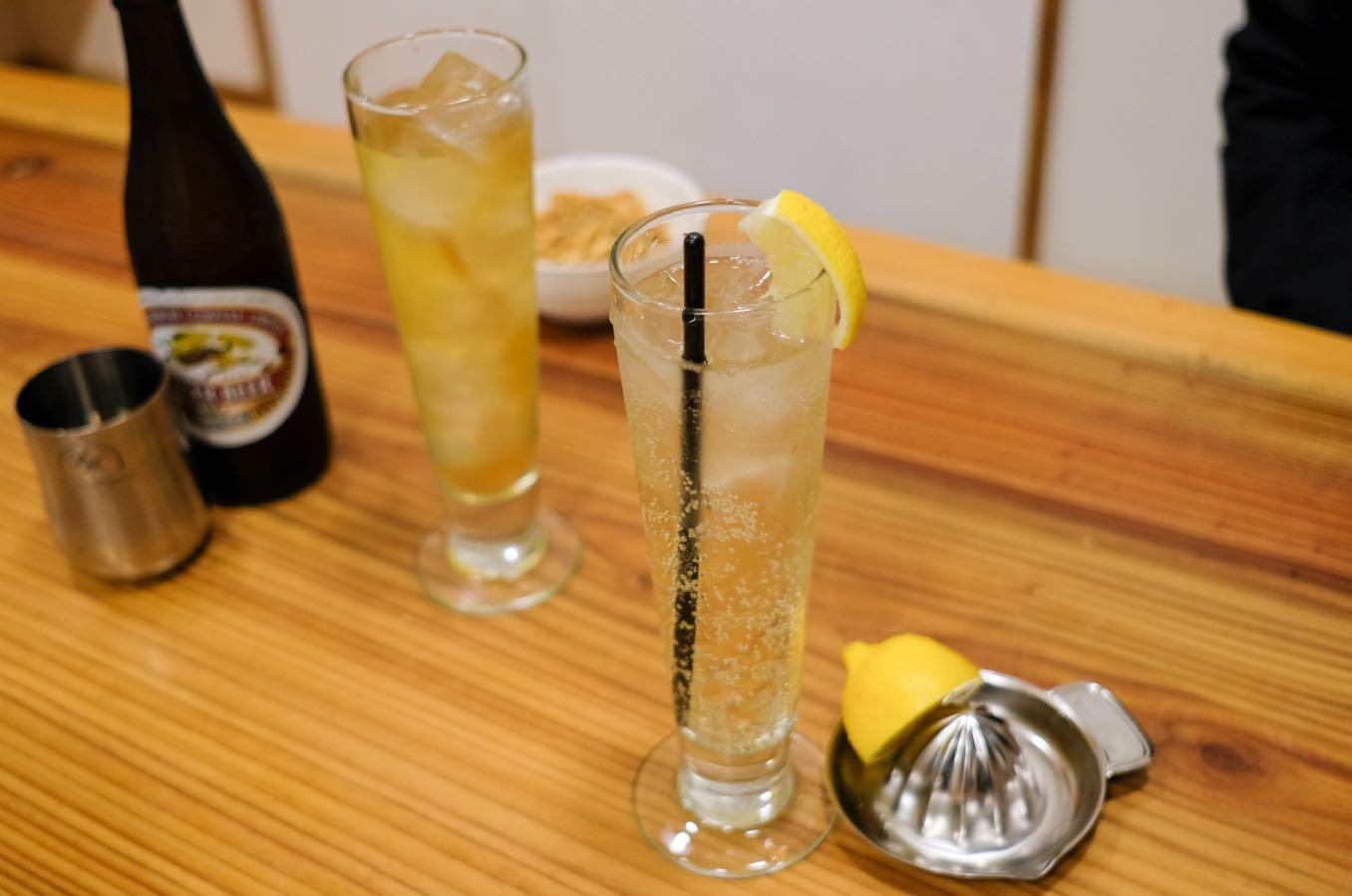 生搾りレモンサワー(500円)