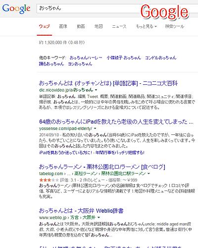 「Google」での検索結果