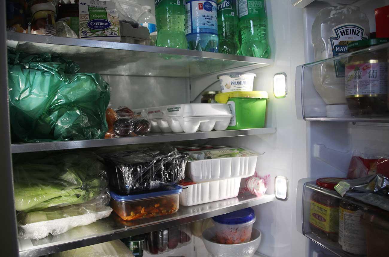 冷蔵庫の中のスペースも借りた