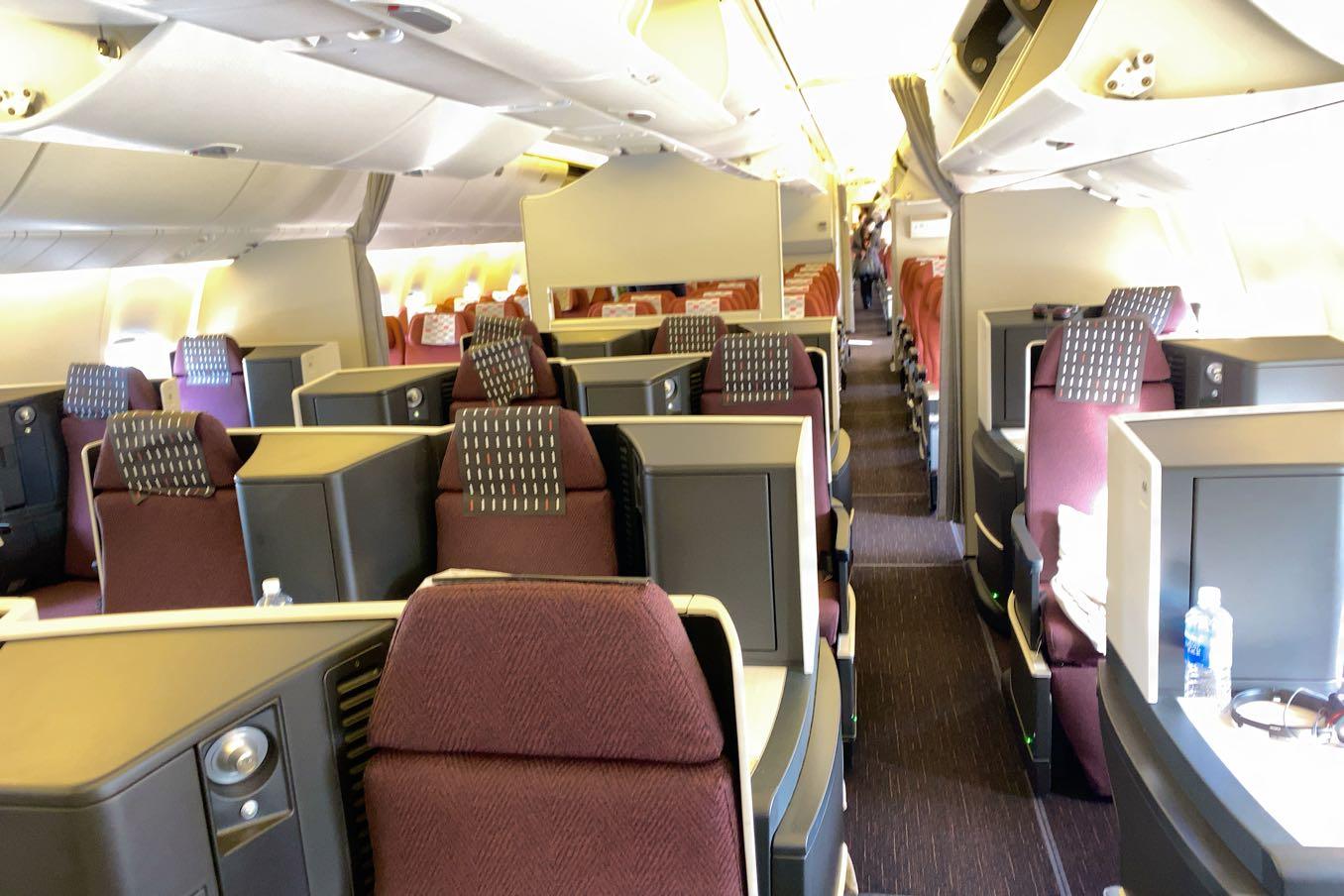 JAL機内のビジネスクラス
