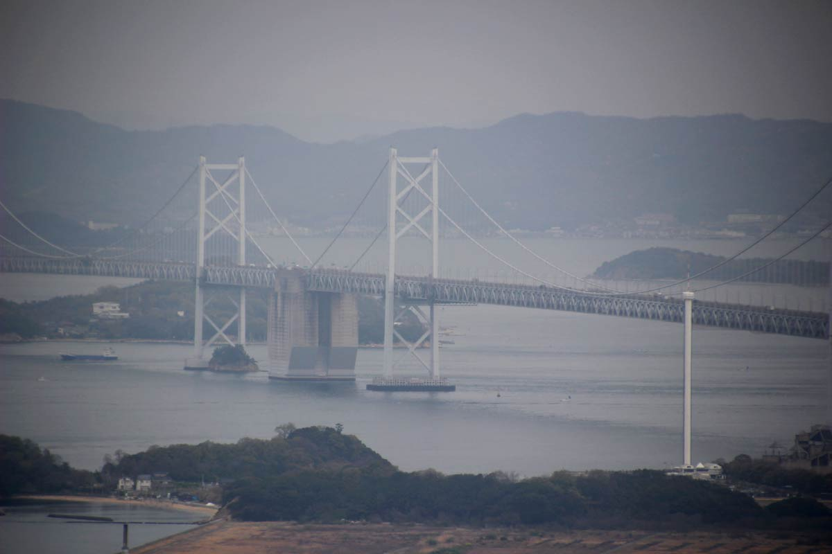 瀬戸大橋をズームで