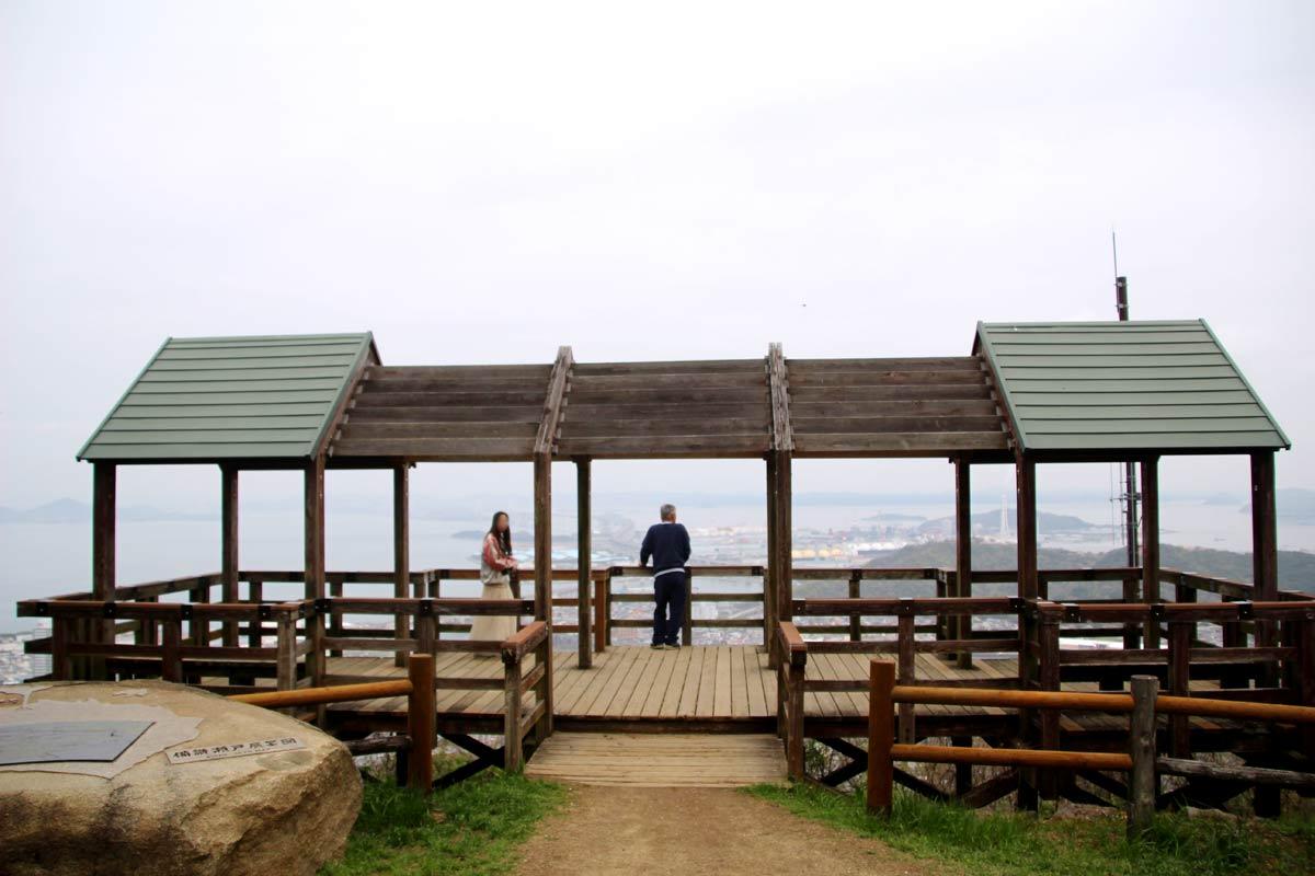 青ノ山頂上の展望台
