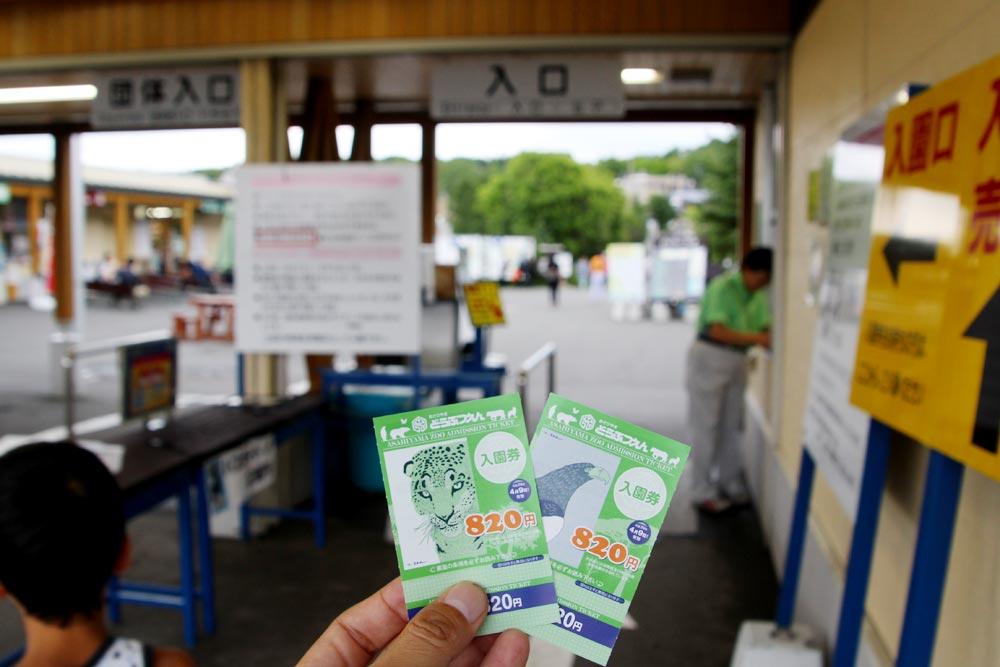 旭山動物園の入場券
