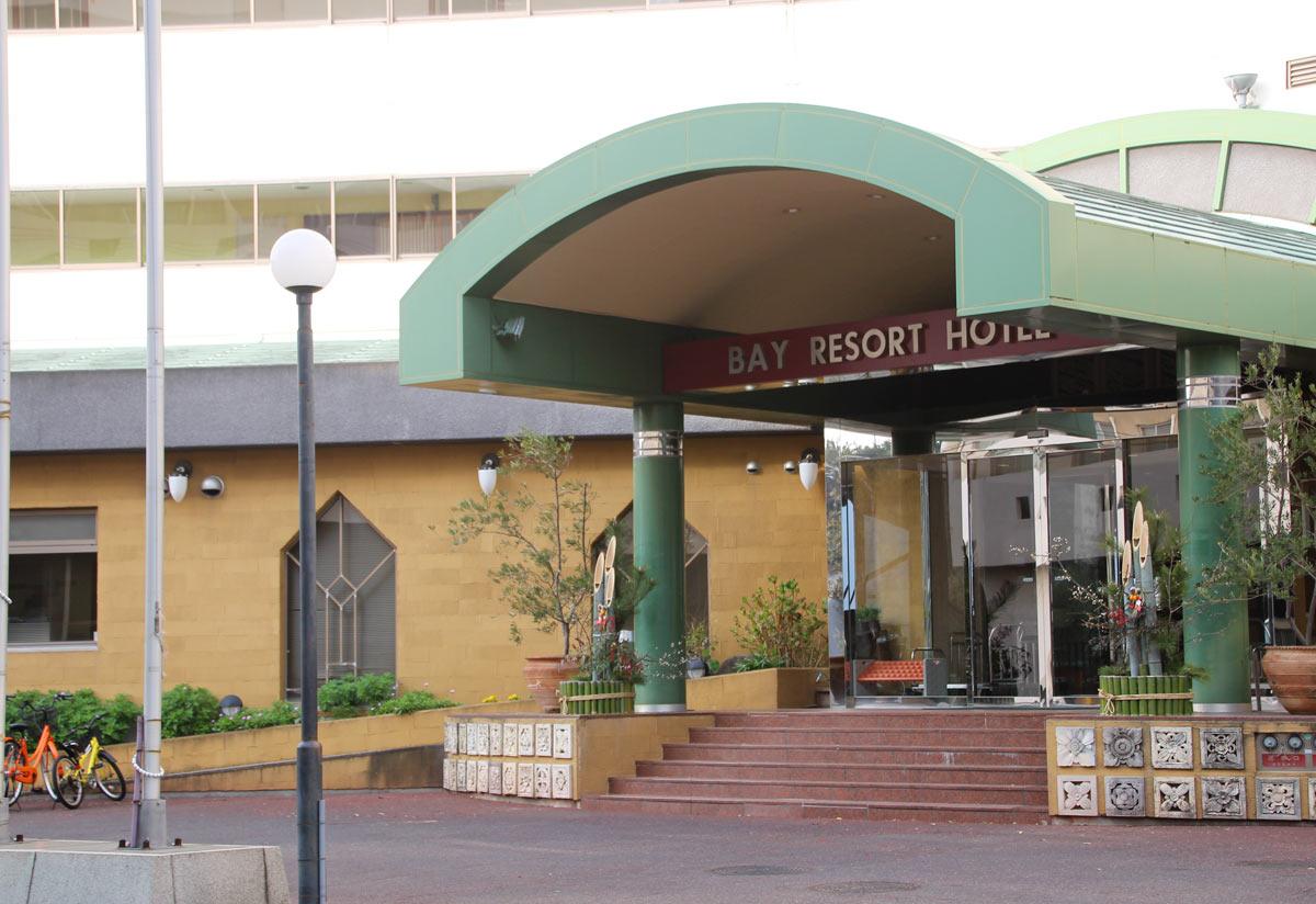 ベイリゾートホテル小豆島の入り口付近