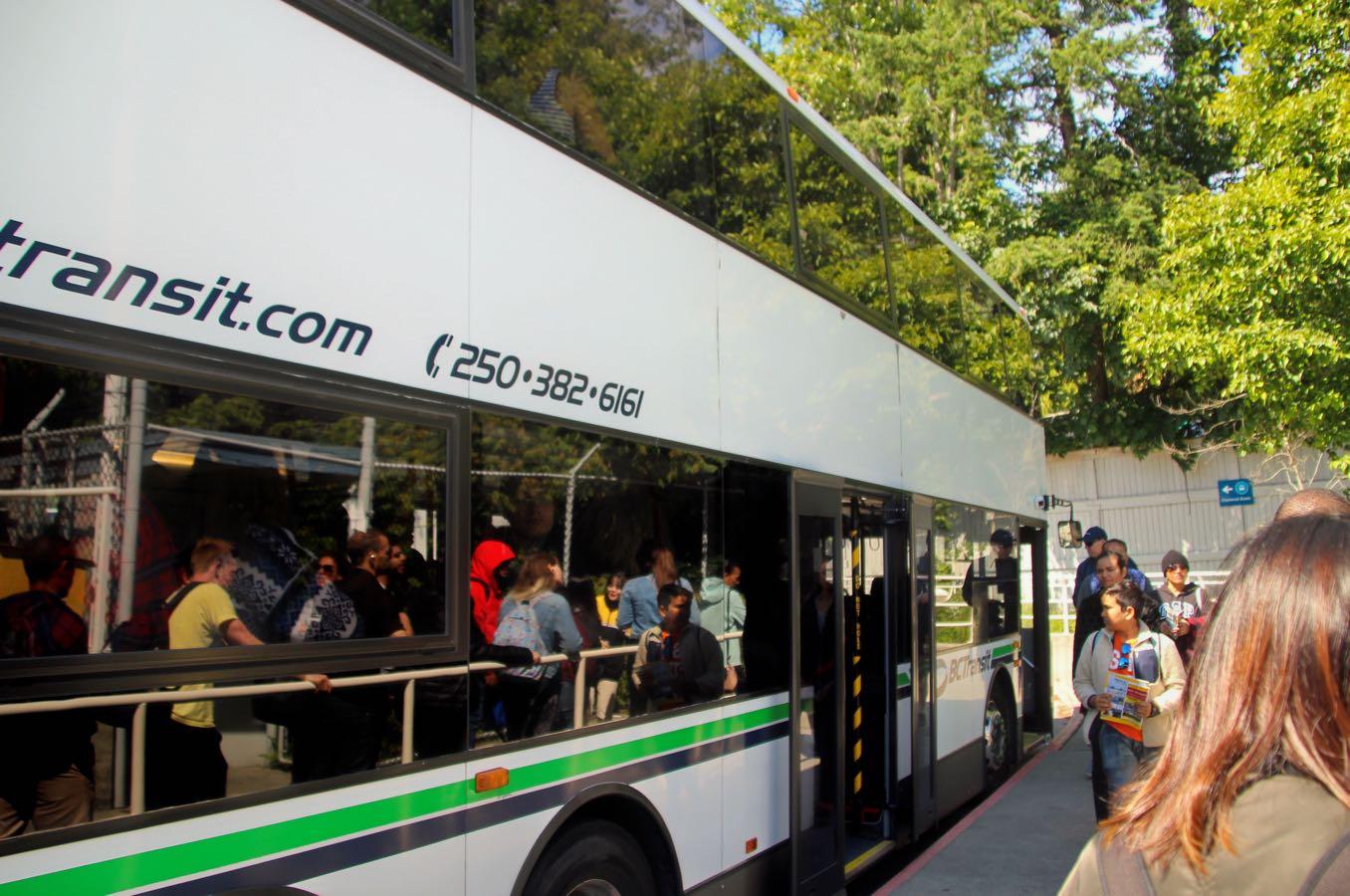 港からビクトリアダウンタウンまでのバス