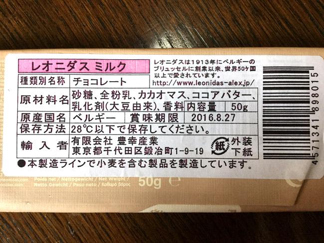 レオニダスチョコレートの原材料