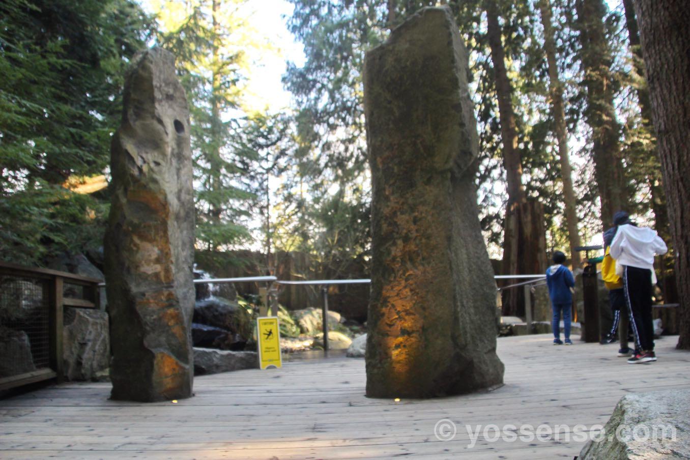 大きな岩がある