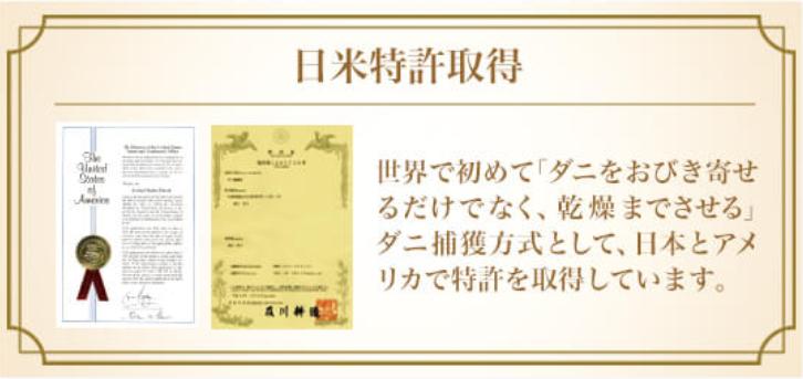 日本とアメリカで特許も取っている