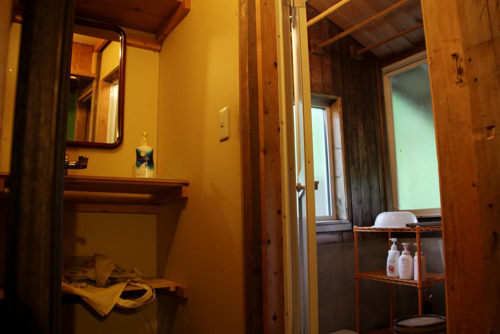 コテージ1階にあるお風呂