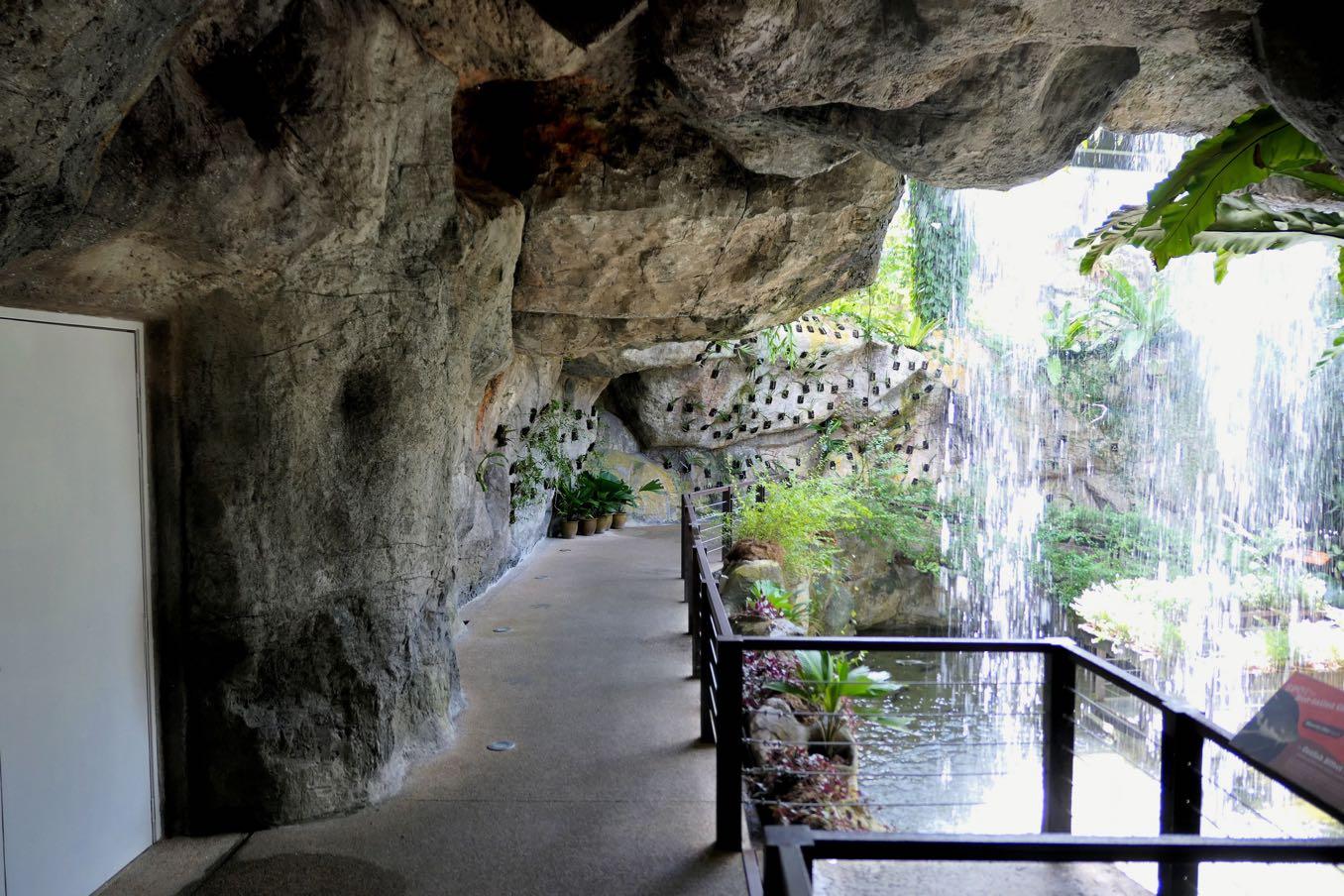 エントピアの滝の裏側