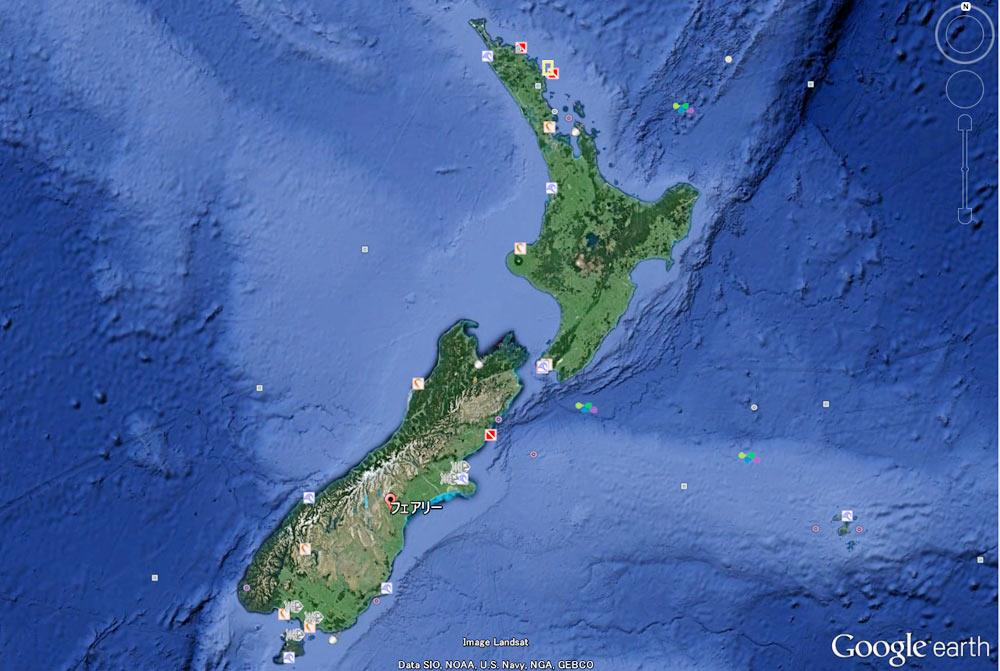 Fairlieはニュージーランドの南島にあります