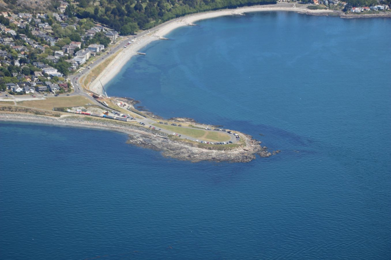 Clover Point Kite Parkが見える