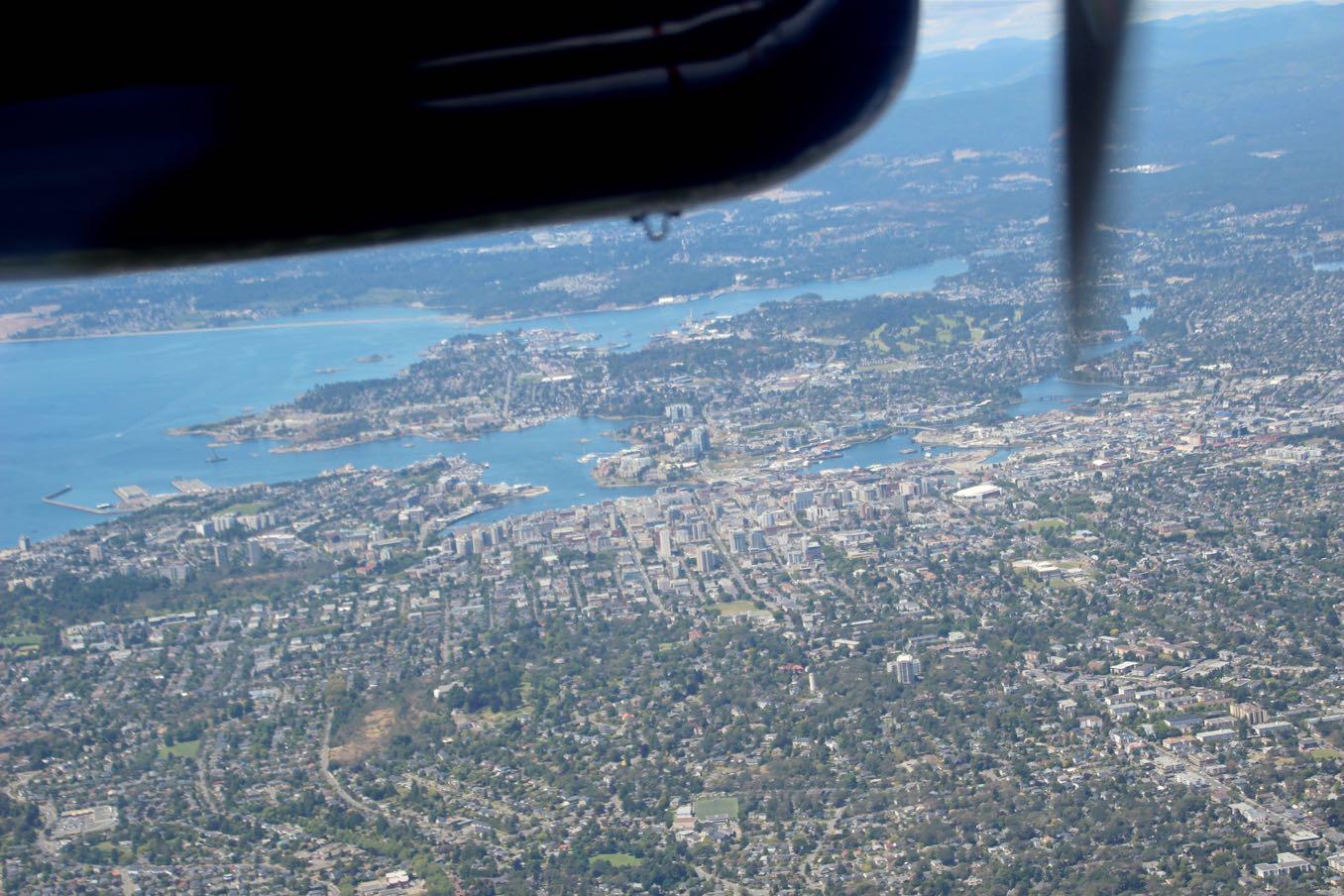 水上飛行機から見たビクトリア