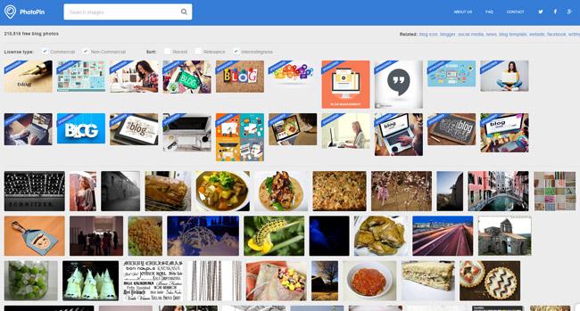 PhotoPinで画像検索