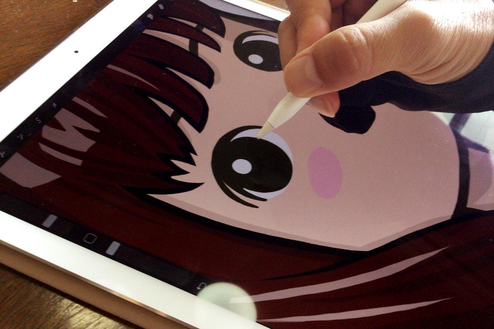Apple Pencilだとイラストが描きやすいのなんの!!
