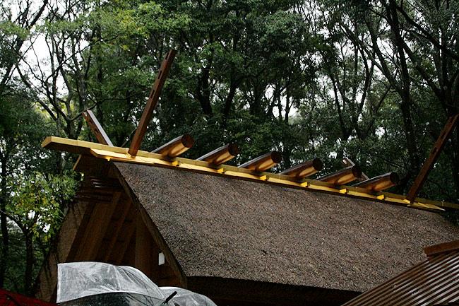 荒祭宮の屋根すごい