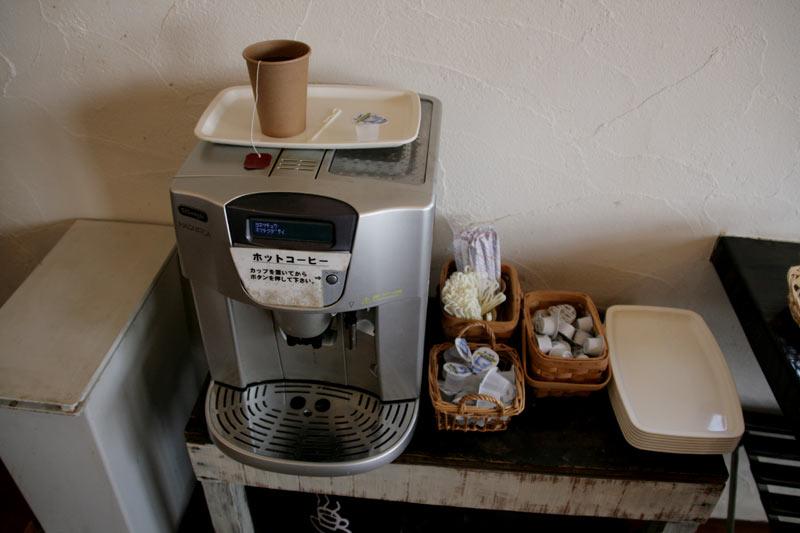 コーヒーはこちらで
