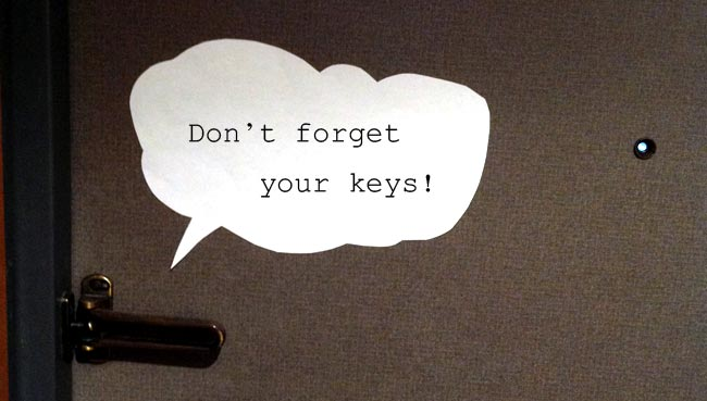 Don't forget your keys!