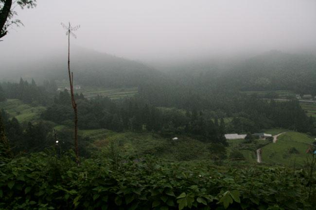 朝霧がすごかったのと寒かった