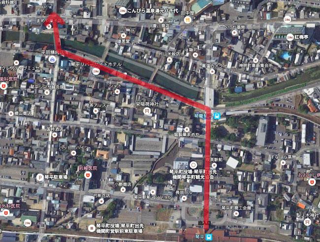 JR琴平駅からこんぴらさんへの歩きオススメルート