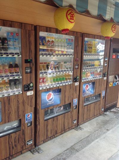 景観を損なわない自動販売機