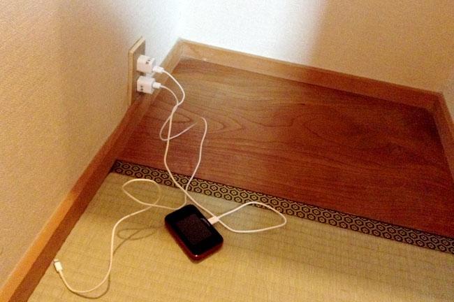 USBの充電ケーブルも借りられます