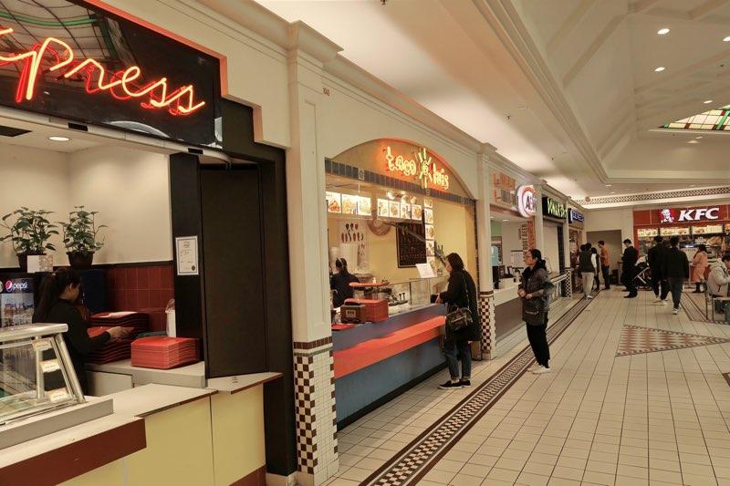 ランズドーンセンターのフードコートのお店