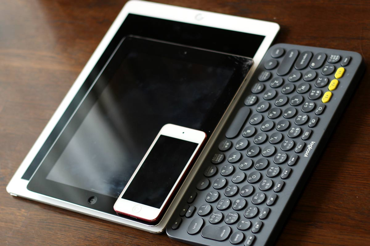 iPod touch、iPad、iPad Proの大型のやつと比較