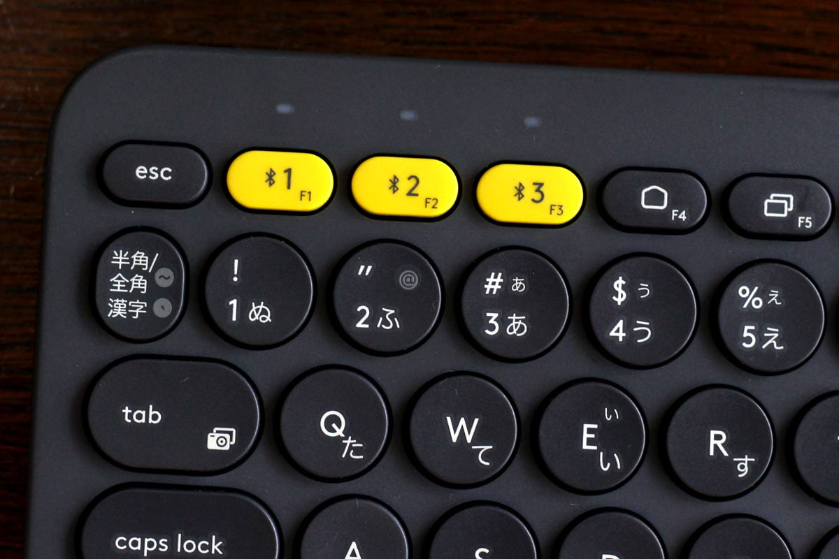 ボタンを長押しし、接続したいデバイスをチェック