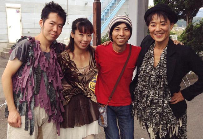 出演者の三原貴嗣さん、Tomoko Albaさん、清水ひさおさんと一緒に