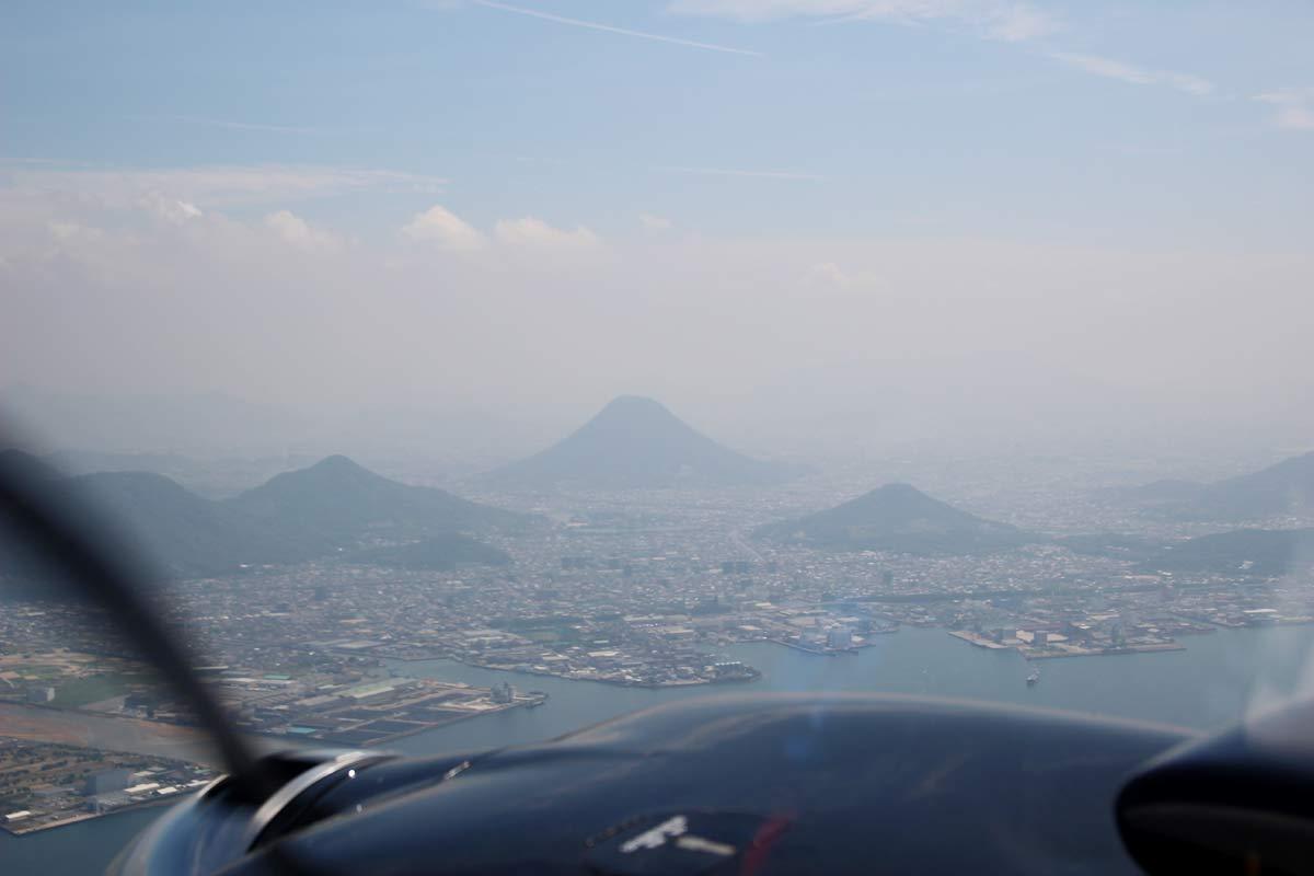 讃岐富士を見下ろすとこんなにも美しかった