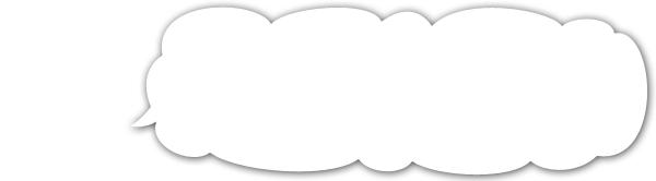 雲型のフキダシ