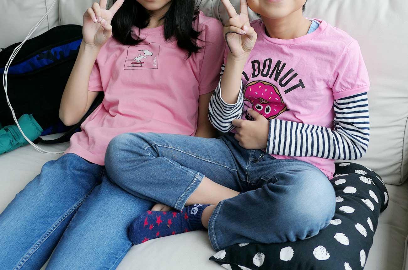 ピンクシャツデーにはピンクのTシャツで学校へ