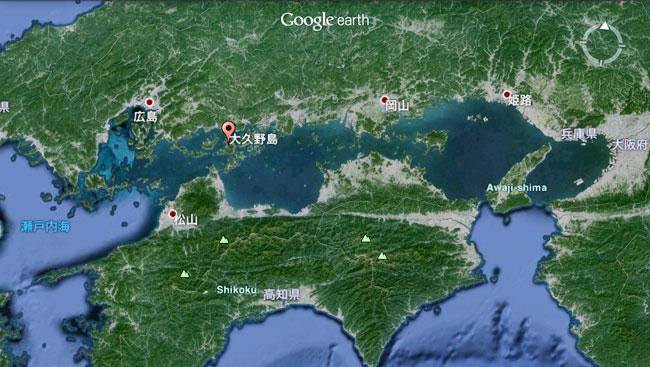 瀬戸内海に浮かぶ小さな小さな島