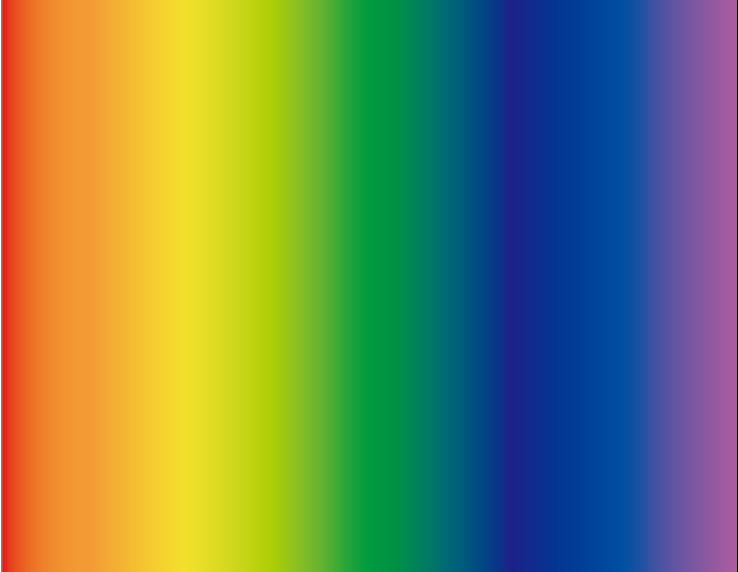 虹は色の境目がない