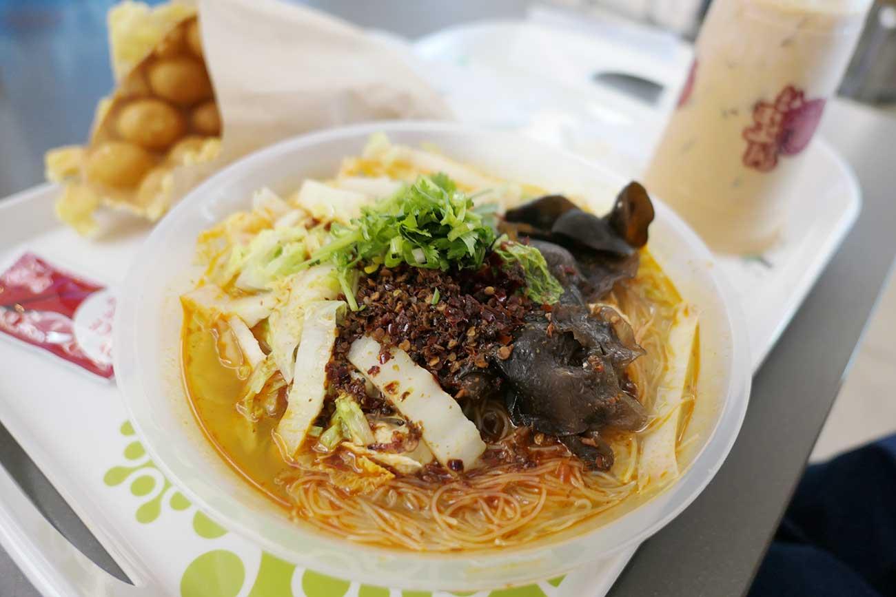 バブル・ワッフル・カフェの麺