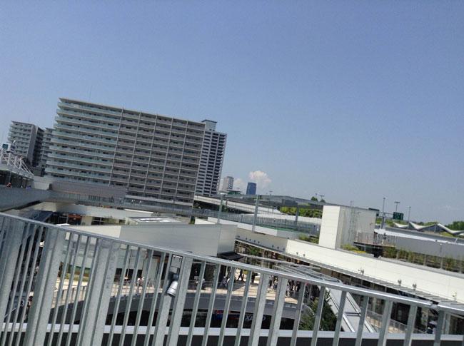 大阪城は見えるし、景色がすごくいい