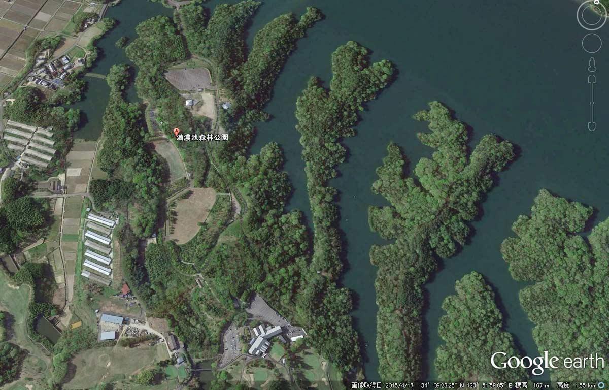 満濃池森林公園の場所