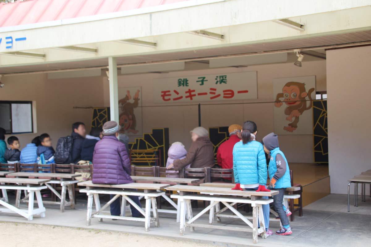 銚子渓のモンキーショー