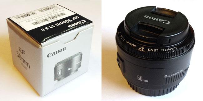 Canonの単焦点レンズ「EF50mm F1.8」はお手頃価格